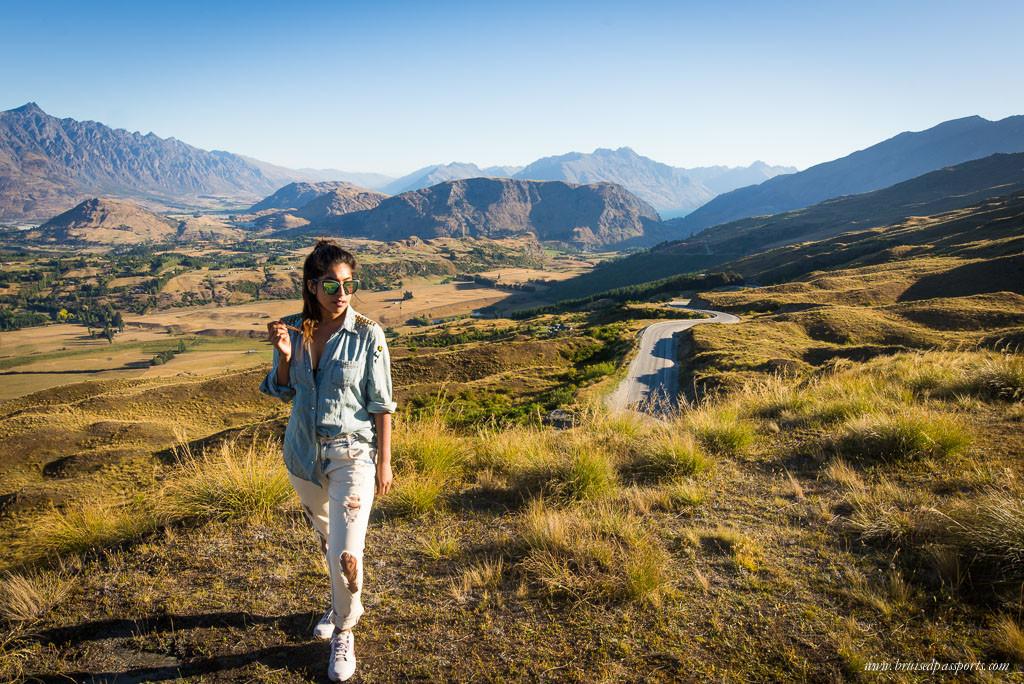 New Zealand road trip travel fashion distressed denim jeans