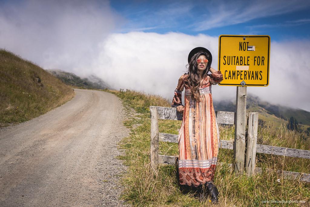 New Zealand road trip travel fashion