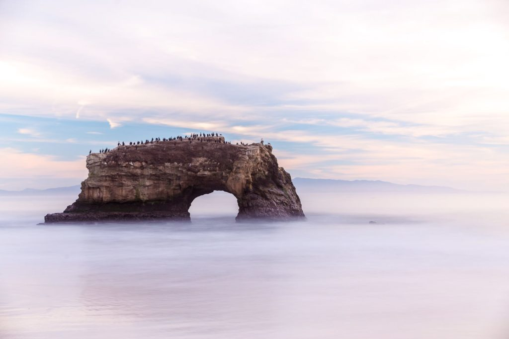 Rock arch santa cruz california