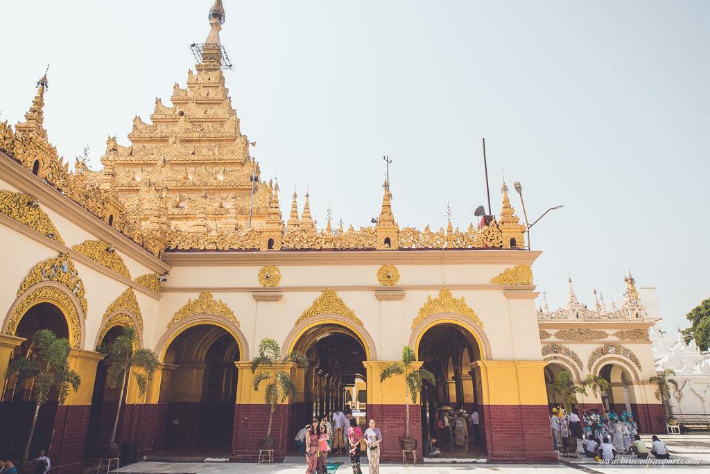 The Mahamuni Buddha Temple in Mandalay