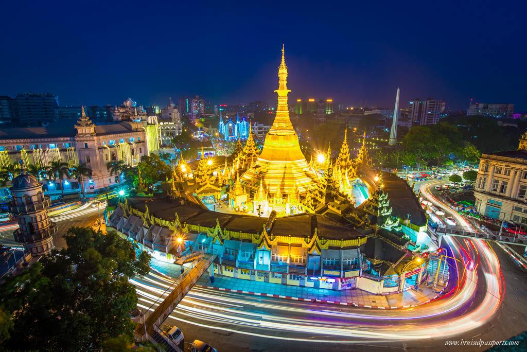 Sule Pagoda in downtown Yangon