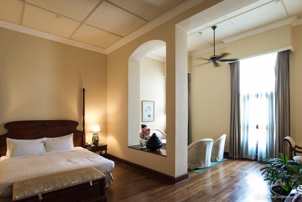 Vintage luxury: suite at Strand Hotel Yangon, Myanmar