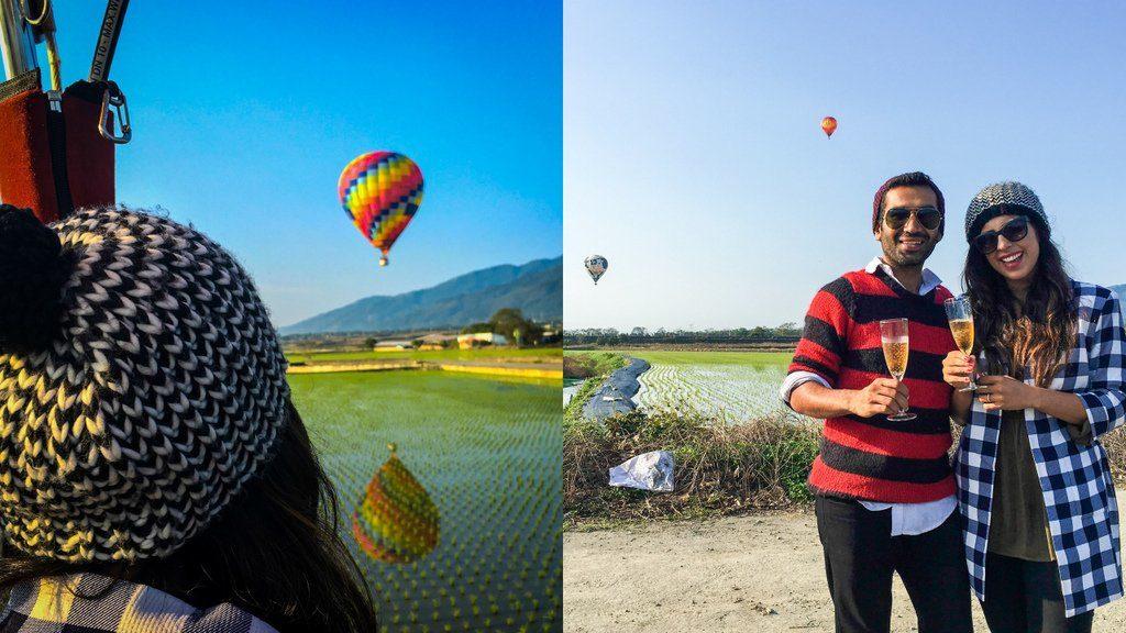 Our hot air balloon ride in Taiwan