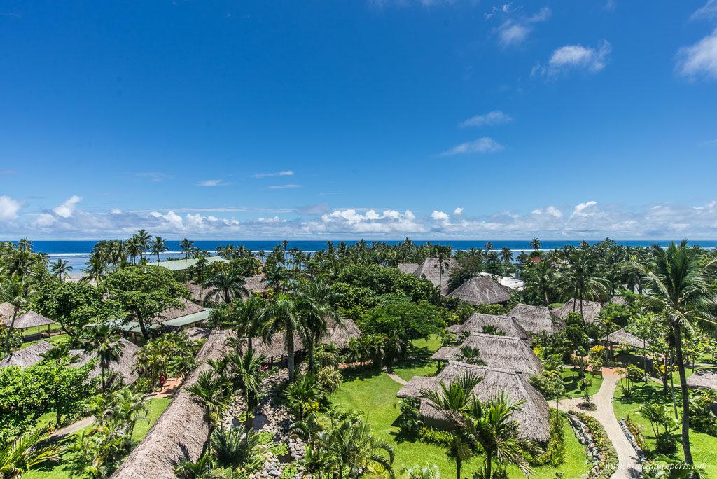 An overview of Outrigger Beach Resort, Viti Levu, Fiji