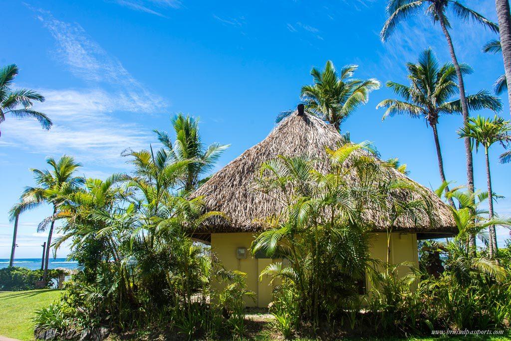 Our beach facing bure at Outrigger Fiji one week itinerary fiji island