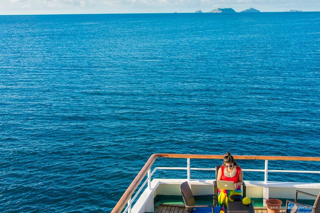 girl on Captain cook cruises fiji