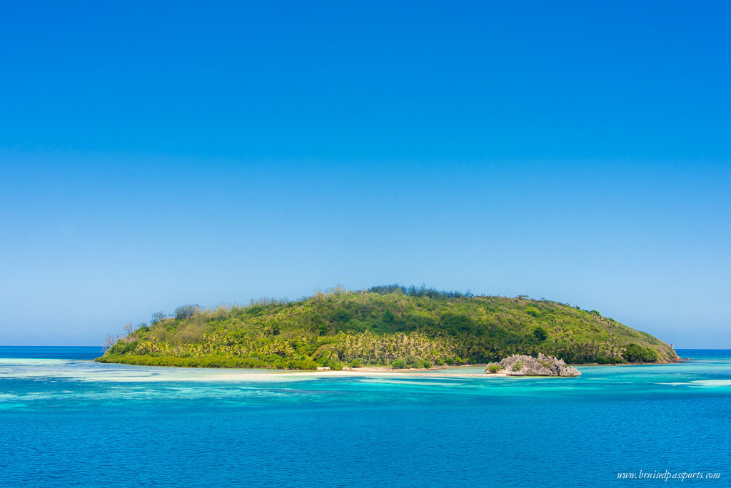 The colour of the water around the Fiji Islands is everything!