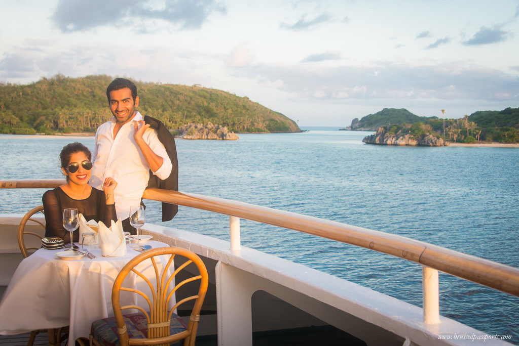Ideal for a romantic getaway. Dinners in Fiji islands look a bit like..