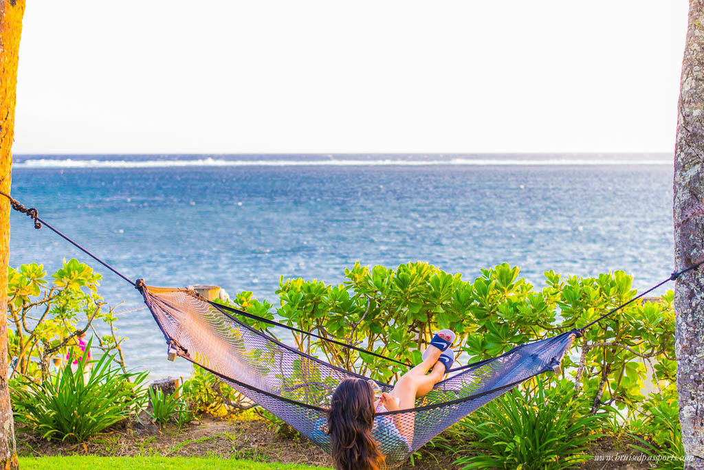 girl at outrigger resort fiji