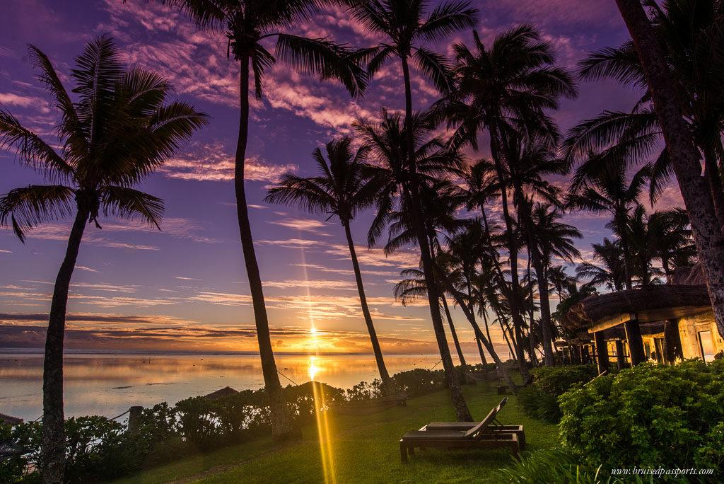 sunset in Outrigger Resort Viti Levu Fiji
