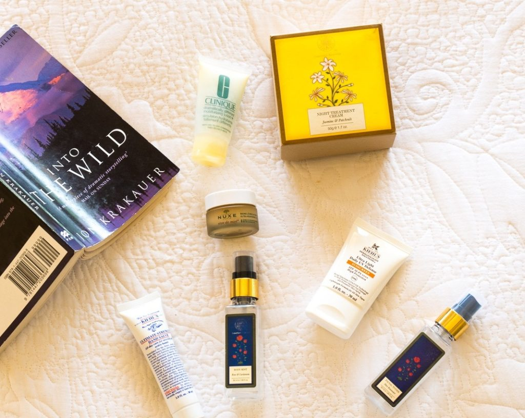 skincare essentials for a road trip to Ladakh