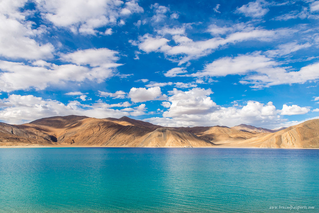 Pangong Lake on road trip to Ladakh