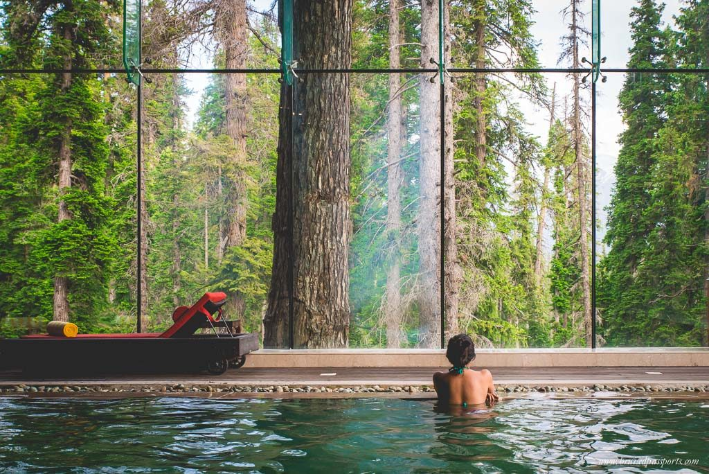 Gulmarg Kashmir swimming pool at Khyber Resort