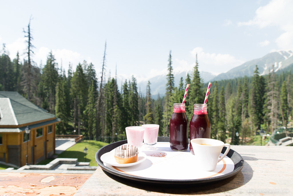 Breakfast with a view in Gulmarg, Kashmir