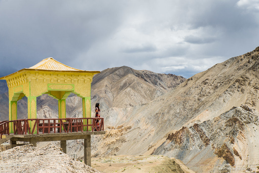 Girl on Road trip of Ladakh
