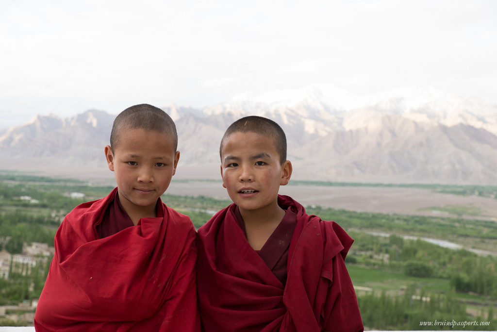 Monks on a roadtrip in Ladakh