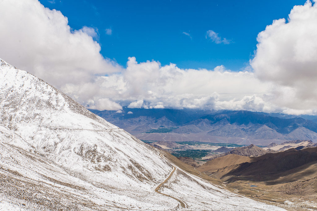 The drive to Khardung La, the highest motorable road in the world