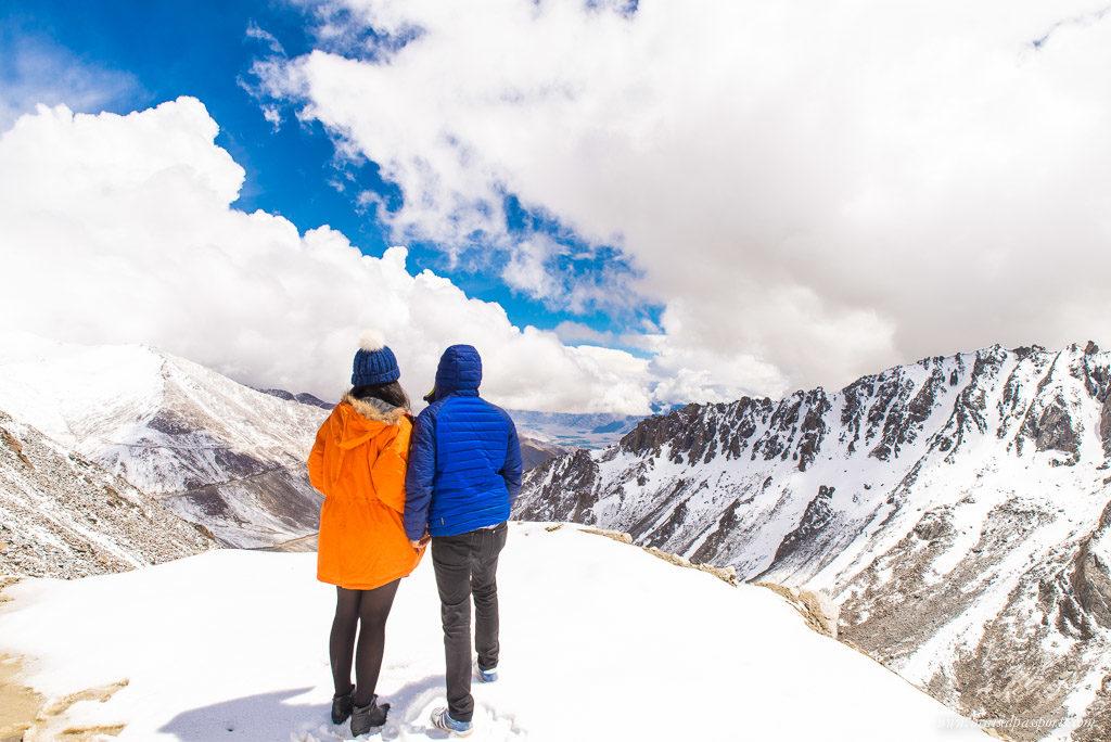 Khardung La snow Ladakh road trip