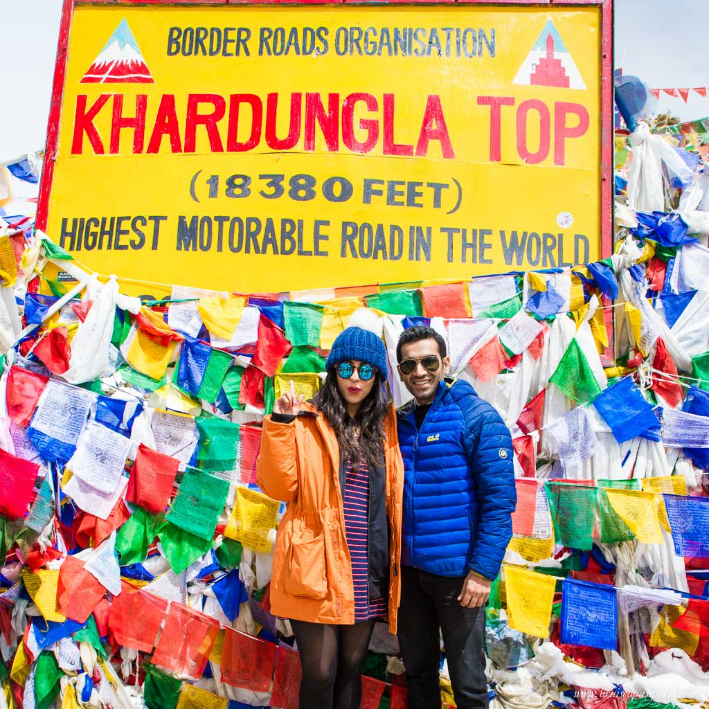 Khardung La on road trip to Ladakh