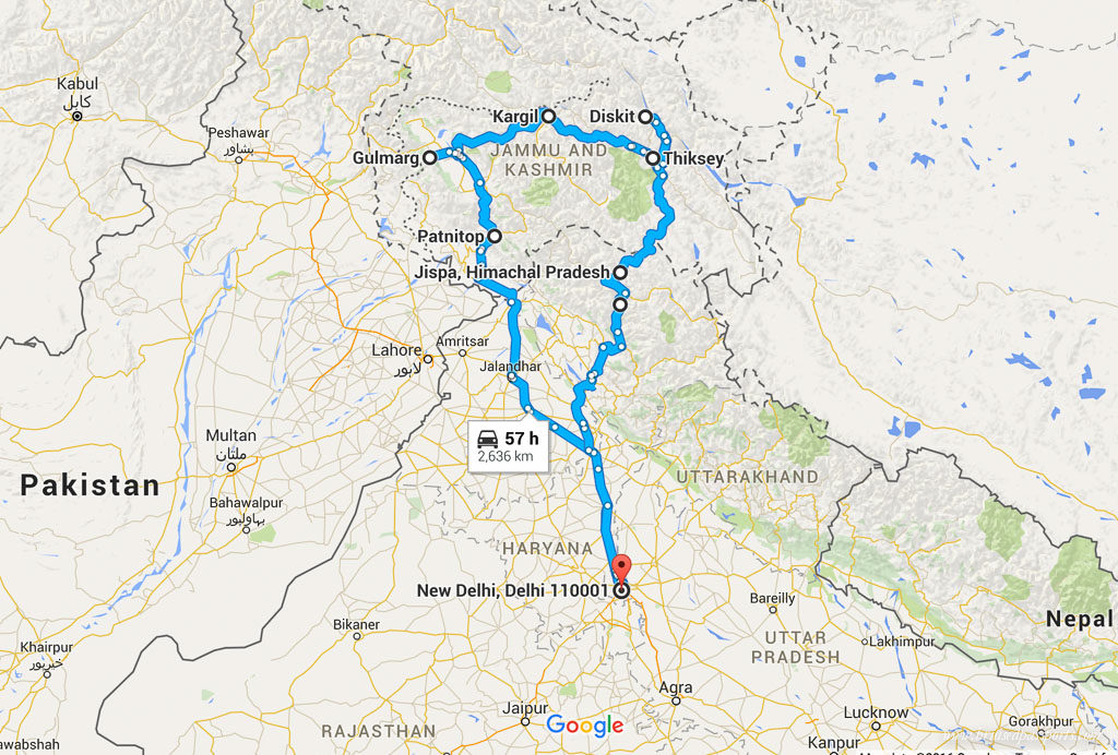 Leh-Ladakh-Road-Trip-Itinerary-Map
