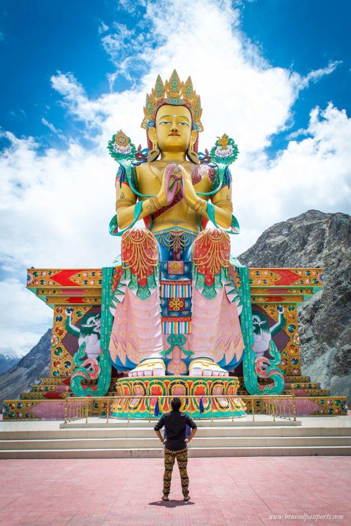 Matreya Buddhah Diskit monastery Nubra