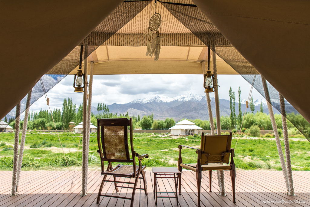tent at chamba camp thiksey luxury camp in ladakh