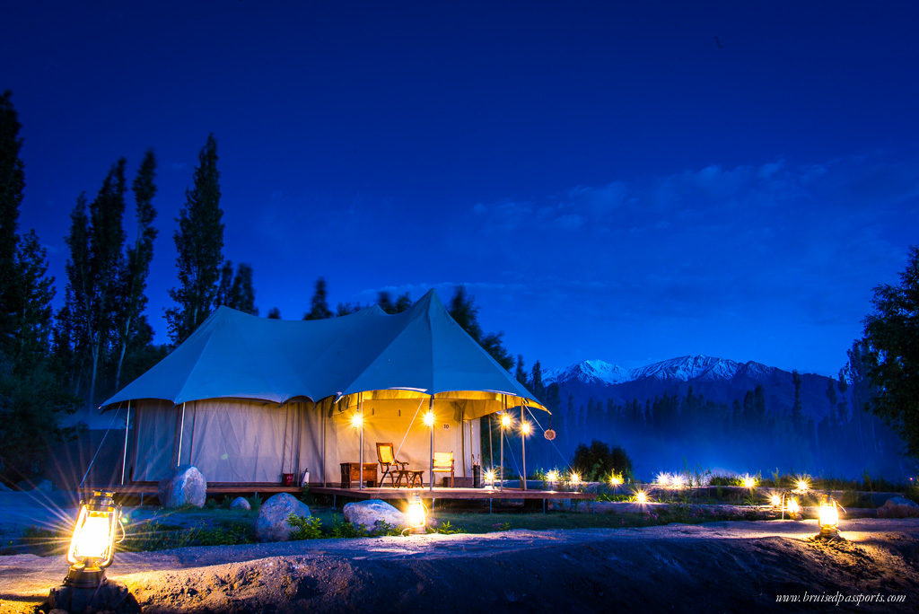 luxury tent at Chamba Camp Thiksey ladakh