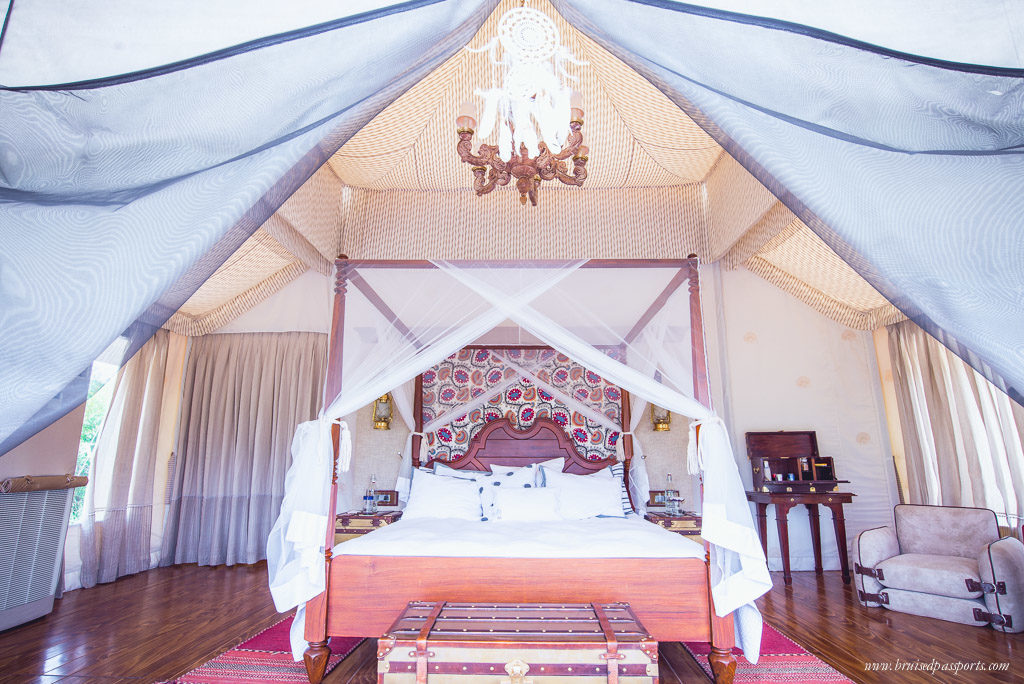 a sneak peak inside our tent at Chamba Camp Thiksey