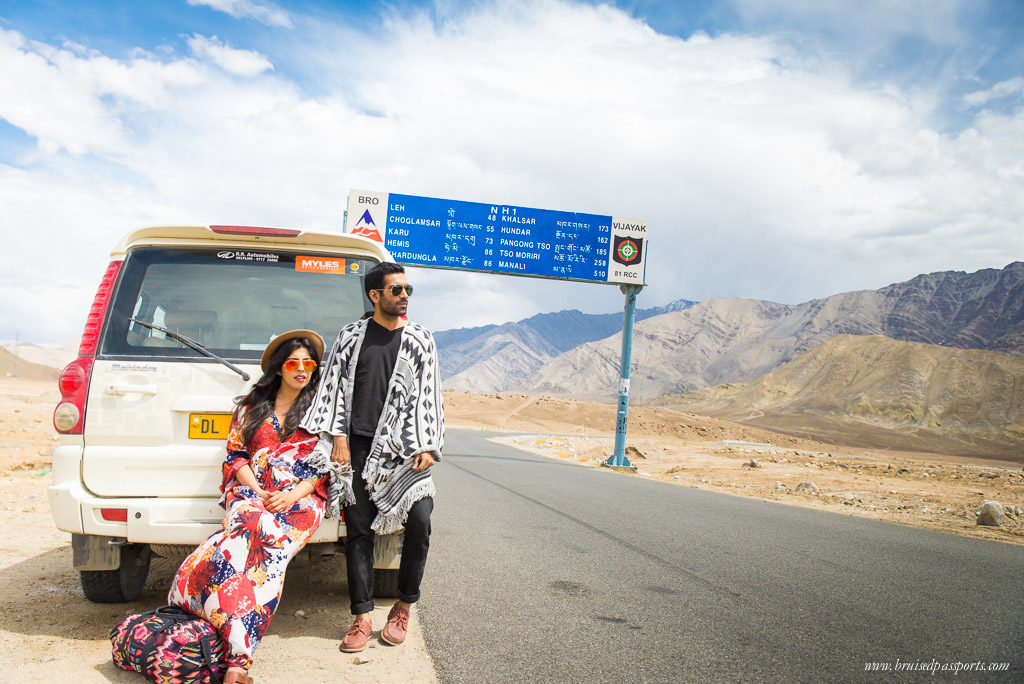 Ladakh road trip drive travel fashion