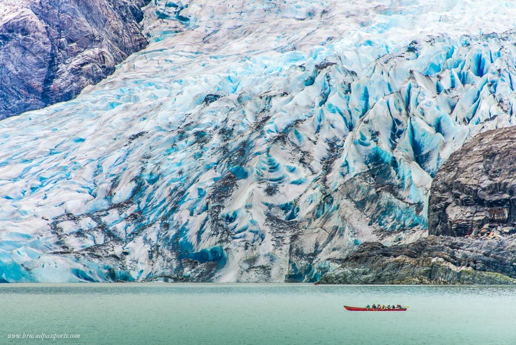 Canoeing by the Meadenhall Glacier in Juneau