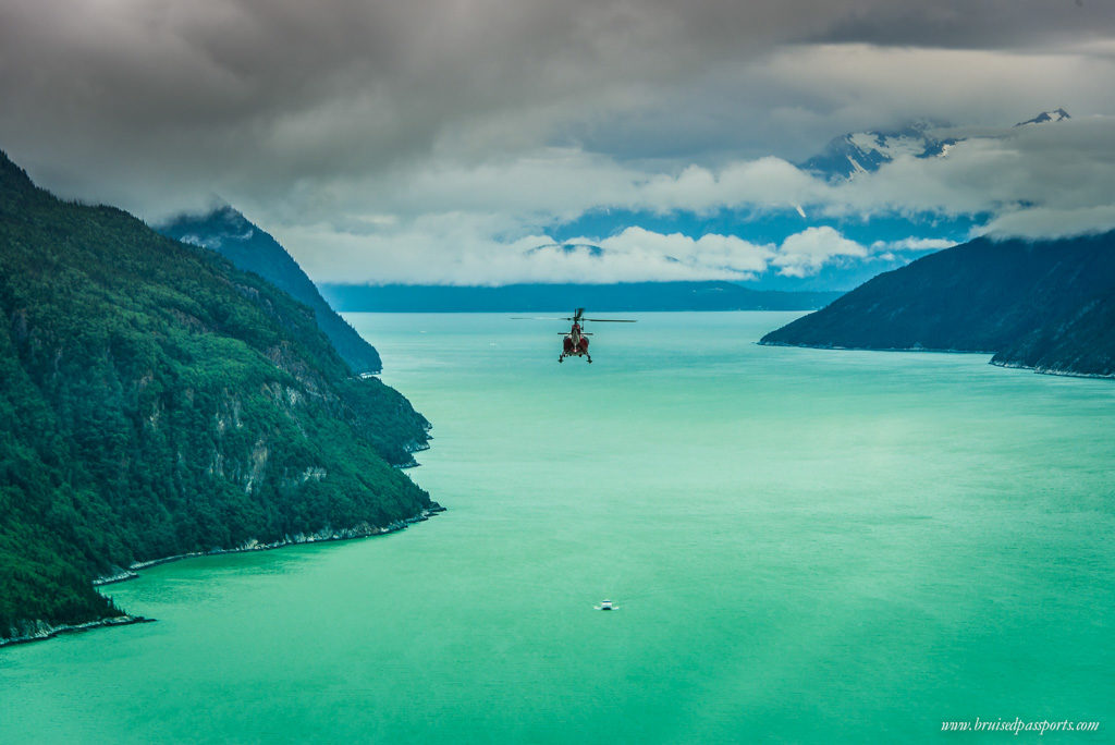 Flying through fjords and glaciers in Skagway, Alaska