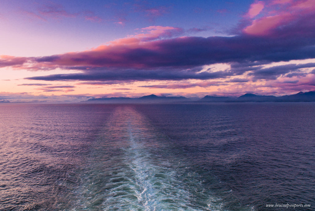 Sunset at The Inside Passage Alaska