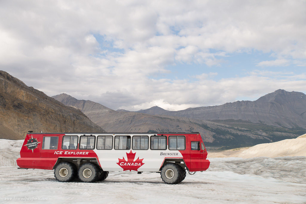 Crazy truck that can be driven on glacier! This was a first for us!