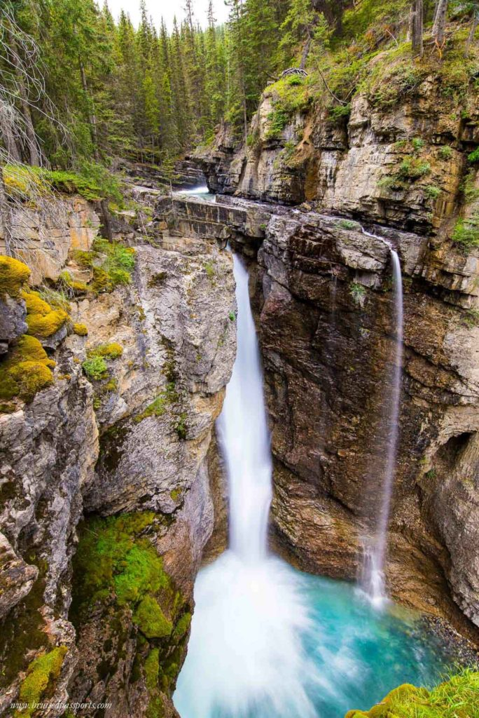 Beautiful waterfalls in Banff and Jasper national parks