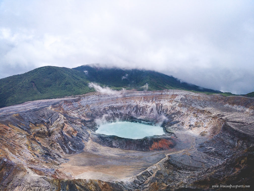 Poas Volcano Crater Lake Costa Rica