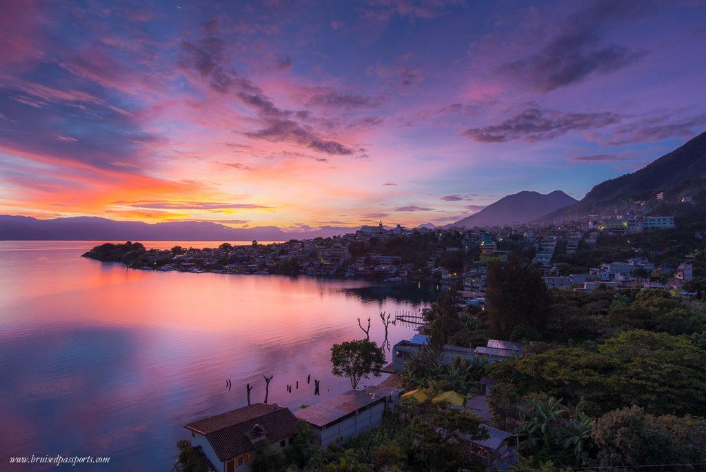 Lake Atitlan Guatemala sunrise