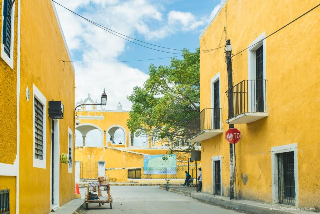 Izamal yellow town on way from Merida to Tulum Mexico