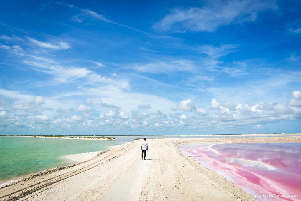 yucatan peninsula coloured lagoons las coloradas