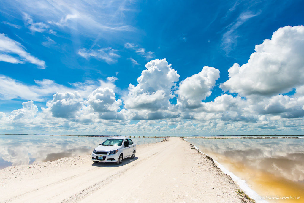 car driving las coloradas yucatan mexico