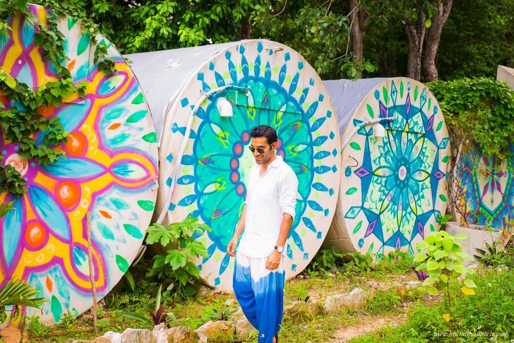 Tulum pueblo colourful town