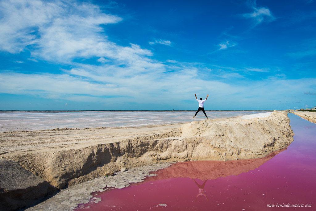 rio lagartos coloured lagoons Yucatan Mexico