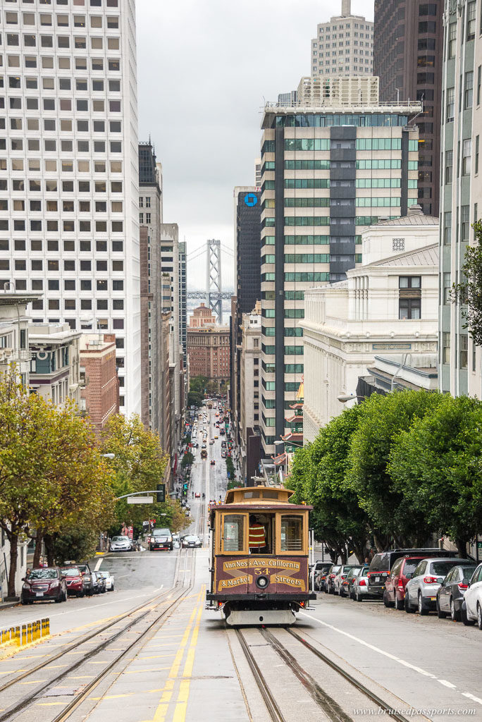 Tram in the city of San Francisco