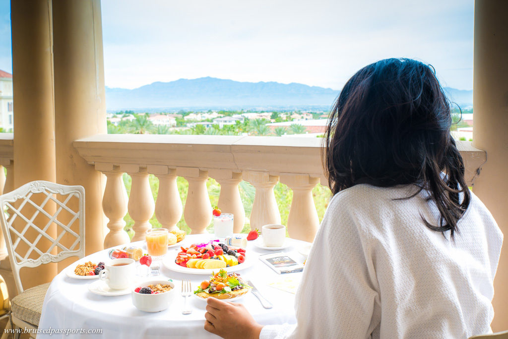 Room service breakfast at JW Marriott Las Vegas Resort and Spa