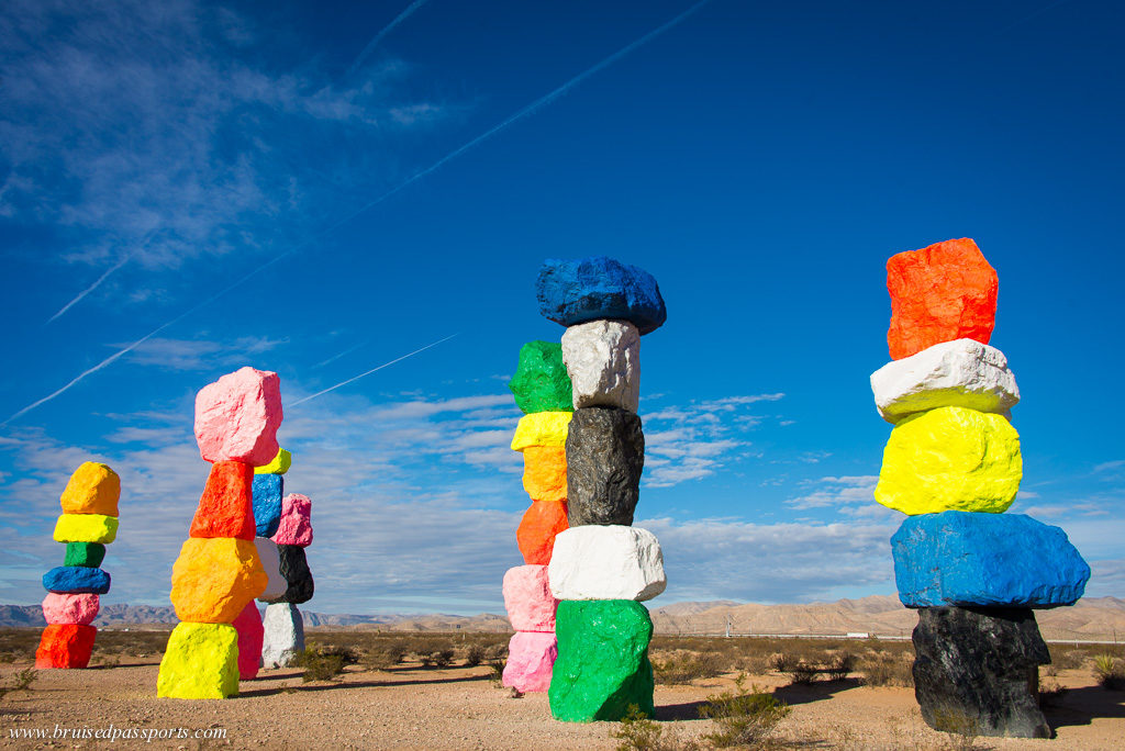 Seven Magic Mountains art installation Las Vegas