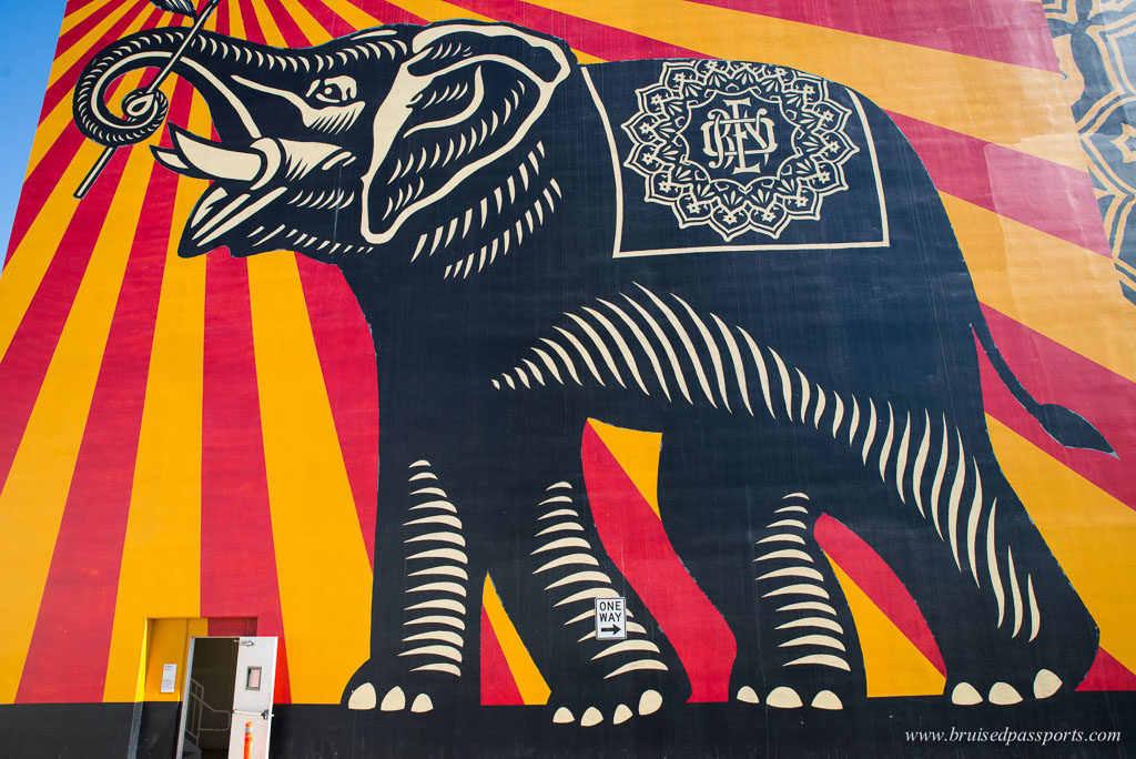 Street art giant elephant West Hollywood
