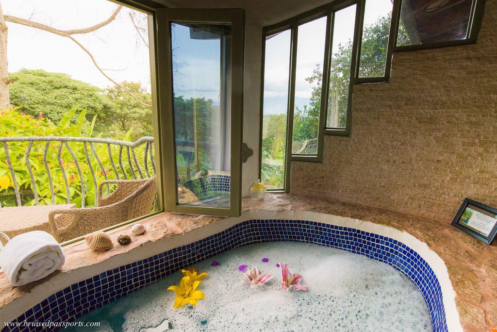 Bathtub at Finca Rosa Blanca San Jose Costa Rica
