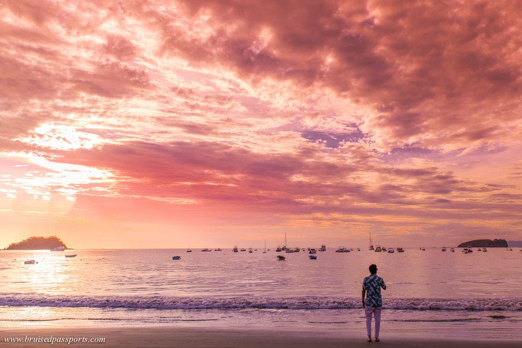 Costa Rica amazing sunset