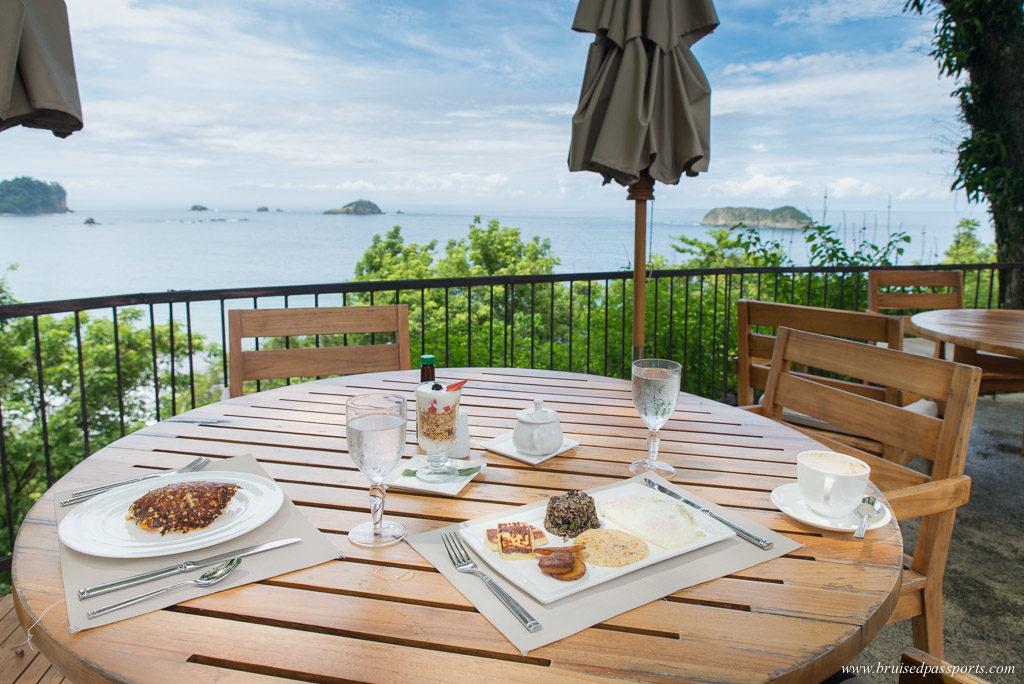 Breakfast view facing ocean at Arenas Del Mar Manuel Antonio National Park