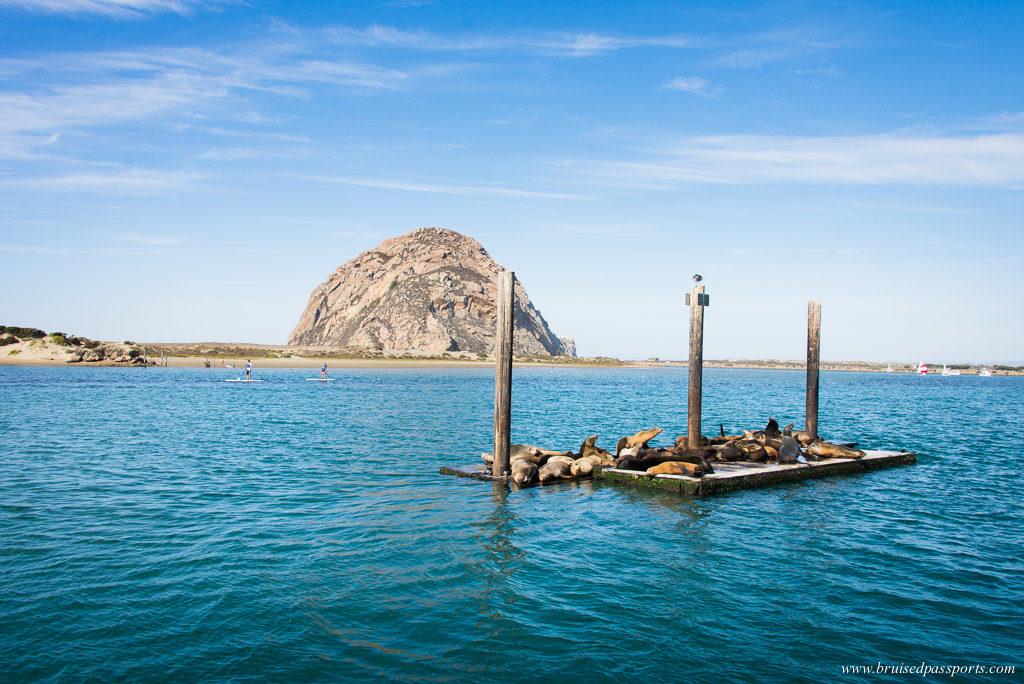 Morro rock at Morro Bay California