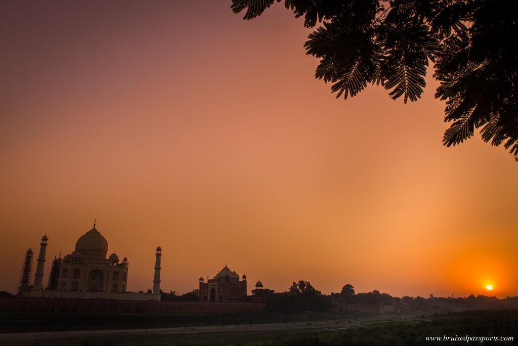 Sunset at Taj Mahal Agra